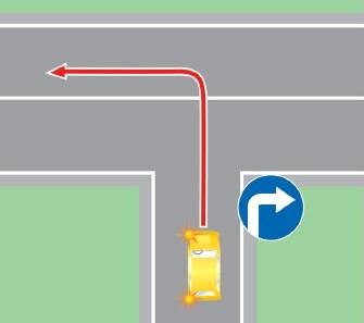 Поворот налево в нарушение требований, предписанных дорожными знаками и (или) разметкой проезжей части дороги.