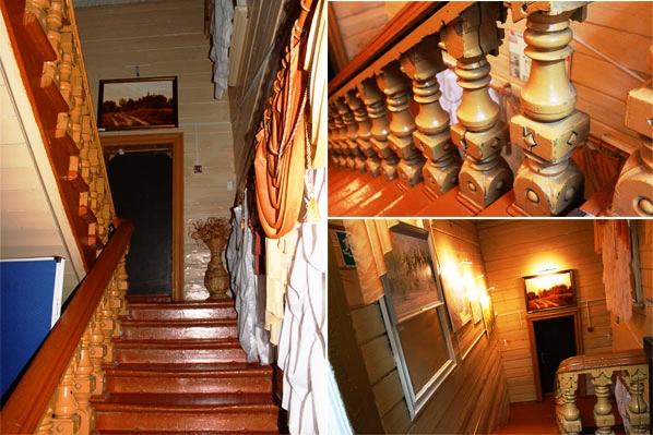 Лестница на второй этаж в доме Бугровых